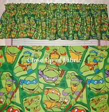 New TMNT Teenage  Mutant  Ninja Turtles Valances Curtain Window Cover