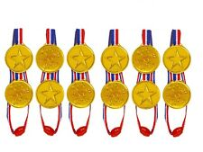 100pc Children Gold Plastic Winners Medals Sports Day Party Bag Prize Awards Toy