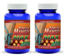 2 x Super African Mango 1200 Extract Irvingia Gabonensis Safe True Weight Loss