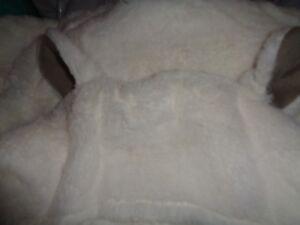 Pottery Barn Kids lamb plush baby bath wrap 34 X 23 mono Harper new