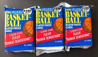 1991-92 Fleer Basketball (3) Jumbo Cello Packs Possible Jordan (159 Cards!!!)