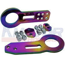 NEO CHROME JDMSPEED High Performance CNC Aluminum Racing Front Rear Tow Hook Kit