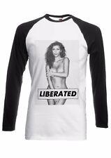 Kim Kardashian Nude Liberated Men Women Long Short Sleeve Baseball T Shirt 1989