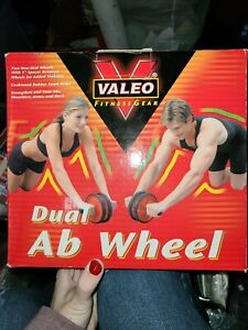 Dual Ab Wheel, Exercise And Fitness Wheel With Easy Grip Handles For Your Core
