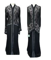 Ladies Lovely Printed Black Abaya A Shape With the Latest Design From DUBAI