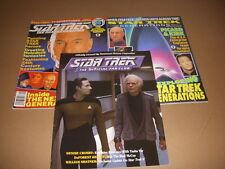 STAR TREK, Lot of 3 Magazines, TNG, Official Fan Club, Generations, Picard, Data