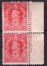 "CHILE 1901-04 Sc.52 Columbus ""Napoleon"" 2c MNH pair IMPRINT"