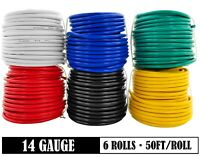 14 GA Gauge 12V Low Voltage Automotive Primary Wire for Car Audio Stereo Harness