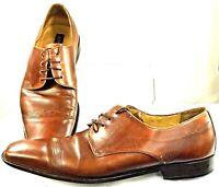 Mezlan Oxfords Men's Size 13 M Brown Leather Lace Up Square Toe Dress Shoe Spain