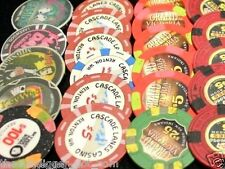 3 ✯ ASSORTED CASINO POKER CHIPS COLLECTION ✯ BLOWOUT SALE ALMOST 200 CASINO'S