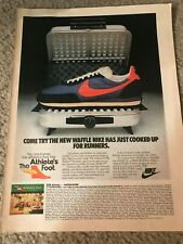 Vintage 1979 NIKE WAFFLE TRAINER II 2 Running Shoes Poster Print Ad 1970s RARE