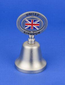 Cloche clochette de table souvenir en métal argenté United Kingdom déco