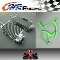 Aluminum Radiator and GRN hose for KAWASAKI KXF450 KX450F 2012 2013 2014 12 13