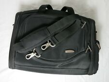 Travelon Black Cosmetic Makeup Bag Zipper Pockets Adjustable Strap