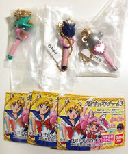Sailor Moon - Gashapon Die Cast Charm Keychain 3 - LOT Uranus Neptune Pluto Wand