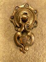 Vintage Antique Original Ornate Drop Ring Drawer Pull Knob Furniture Hardware