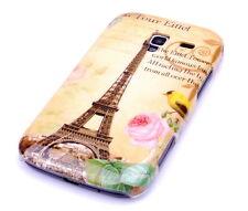 Funda para Samsung Galaxy Ace Plus + s7500 bolso funda protectora case parís torre Eiffel