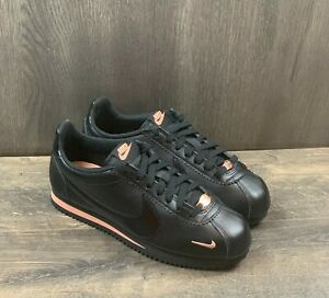Nike Classic Cortez Women's Sneakers Size 7 Leather Black Rose Gold 905614-010