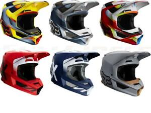 Fox Racing V1 Motif Werd Helmets Motocross Off-Road MX/ATV/MTBike Adult Sizes