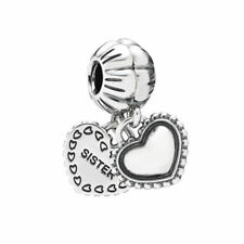 Authentic Sterling Silver Pandora Charm My Special Sister Heart Bead 791383