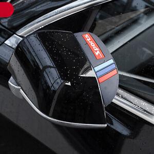 Car Rear View Side Mirror Rain Board Eyebrow Cover Shield Sun Visor Shade Black