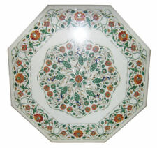 "36"" coffee marble Table Top Inlay Work handmade dining home Decor"