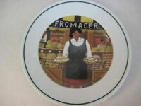 "Guy Buffet L'etalage Collection ""The Cheese Lady"" Japan Plate, 7 3/4"" Diameter"