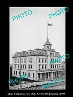 OLD LARGE HISTORIC PHOTO OF VALLEJO CALIFORNIA, THE NAVAL YMCA BUILDING c1900