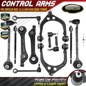 12pcs Front Lower Upper Control Arm Kits for Chrysler 300 C LE LX 2004-2012