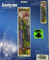 Stained Glass Rose Counted Cross Stitch Kit 023-0463 Janlynn NIP New Sealed