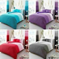 Luxury URBAN OMBRE Bed Set With Duvet Cover and Pillow Case Reverse Bedding Sets