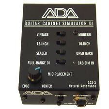 ADA GCS-3 Guitar Cabinet Simulator DI Box w/ Mic Placement Control Headphone Out