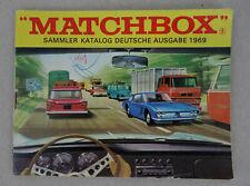 1969 Matchbox Sammler Katalog / Deutsche Ausgabe / 48 Seiten / German Issue