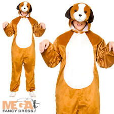 Deluxe Puppy Adults Fancy Dress Animal Dog Book Day Mens Ladies Costume Outfit