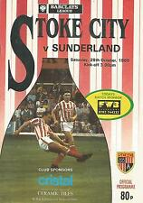 Football Programme - Stoke City v Sunderland - Div 2 - 28/10/1989