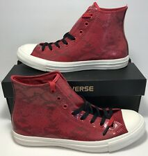 Converse Mens Size 10 Chuck Taylor All Star Hi Top Year Of The Snake Skin Red