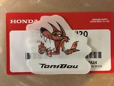 ORIGINAL - Rare TONI BOU REPSOL HONDA MONTESA 4RT TANK OR HELMET DECAL/STICKER