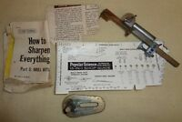 VTG Fred F. Ten Eyck L.A Cali. DRILL GRINDER with Instructions PAT PEND (TH1506)