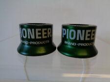 New ListingVintage Pair of Pioneer Hi-Bred Fizz-Whiz Bottle Caps Green Aluminum Mid-Century