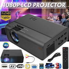 Full HD 1080P Mini LED Portable Projektor Heimkino Beamer Home Multimedia SD