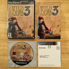 Wild Arms 3 Black Label Version Playstation 2 PS2 System Complete Game