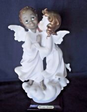 Giuseppe Armani Black and White Angels Porcelain Figurine 8 inch Italy