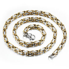 Small Horse Shoe Chain Necklace Stainless Titanium Steel Gold Silver White