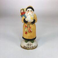 """Vintage Hungary Santa Ceramic Figurine 5"""" tall"""