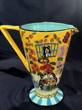 8 1/2 In Candice Reiter Catzilla 2005 Pottery Hand Painted Pitcher