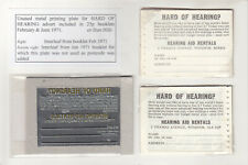 More details for 25p feb 71 hearing ad unused metal printing stereo ex stan hills