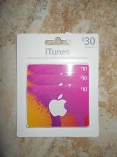 $30 Itunes Gift Cards Multipack -- 3 x $10 cards unopened sealed multipack