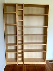 Used IKEA Billy Bookcases -Birch Colour
