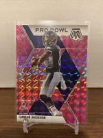 2020 Lamar Jackson Mosaic PINK CAMO MOSAIC PRIZM #251 Baltimore Ravens Pro Bowl