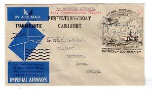 "1939 Imperial Airways Canada Flight to Devon England ""Flying Boat Caribou"""